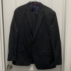 Black men's suit with pinstripes